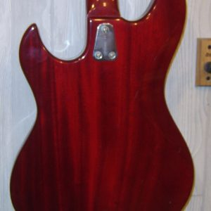 Fretless Jazz Bass body back